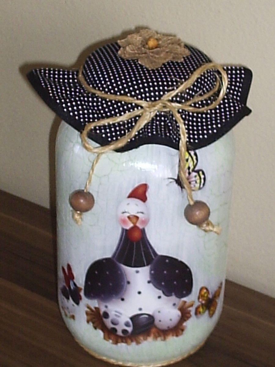Potes Decorados Potes De Vidro Decorados Decora Es De Cozinha  ~ Potes Decorativos Para Cozinha