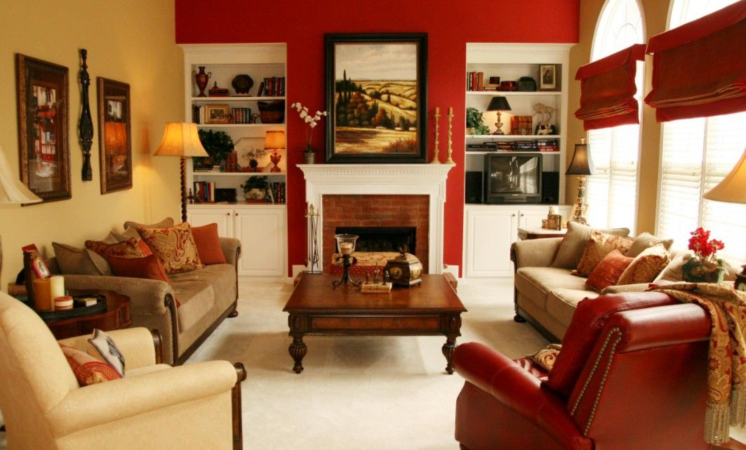 20 Colors That Jive Well With Red Rooms In 2021 Living Room Red Beige Living Rooms Living Room Leather