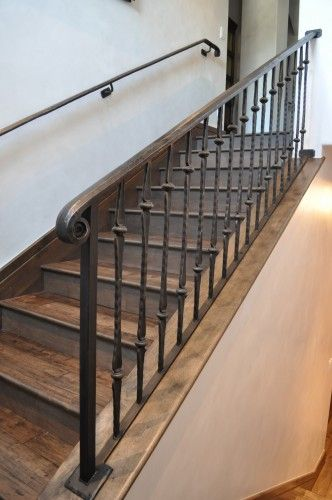 Heavier Iron Railing Like Color Wrought Iron Stair Railing