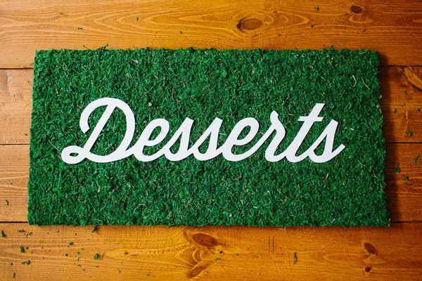 DIY Dessert Sign