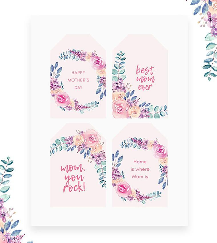 photo relating to Free Printable Funny Mothers Day Cards titled Free of charge Printable Moms Working day Card Reward Tags printables