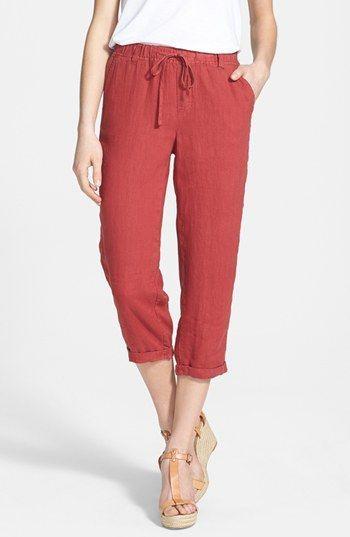 Caslon Linen Capri Pants Casual And Easy Summer Piece We