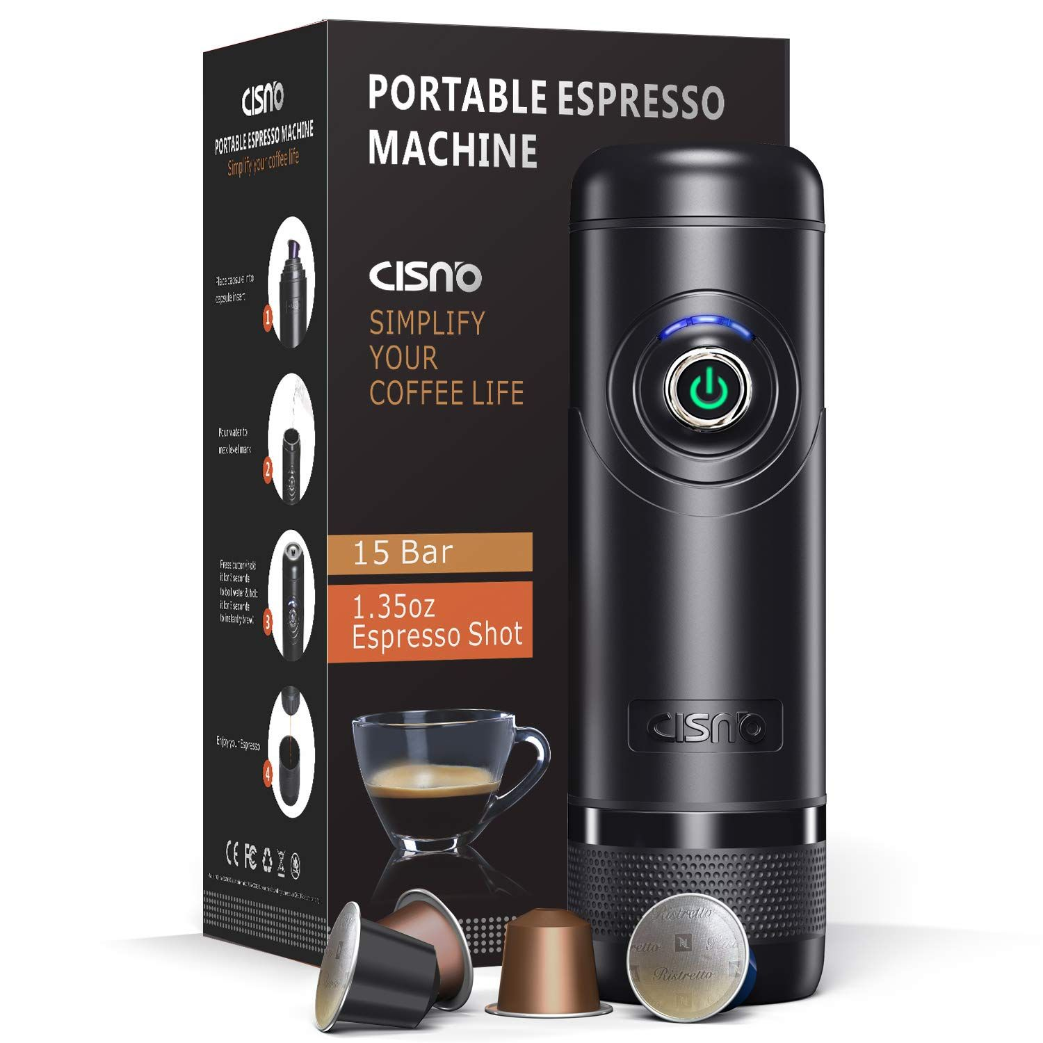 CISNO NCCN01 Automated Portable Espresso Machine, Boil