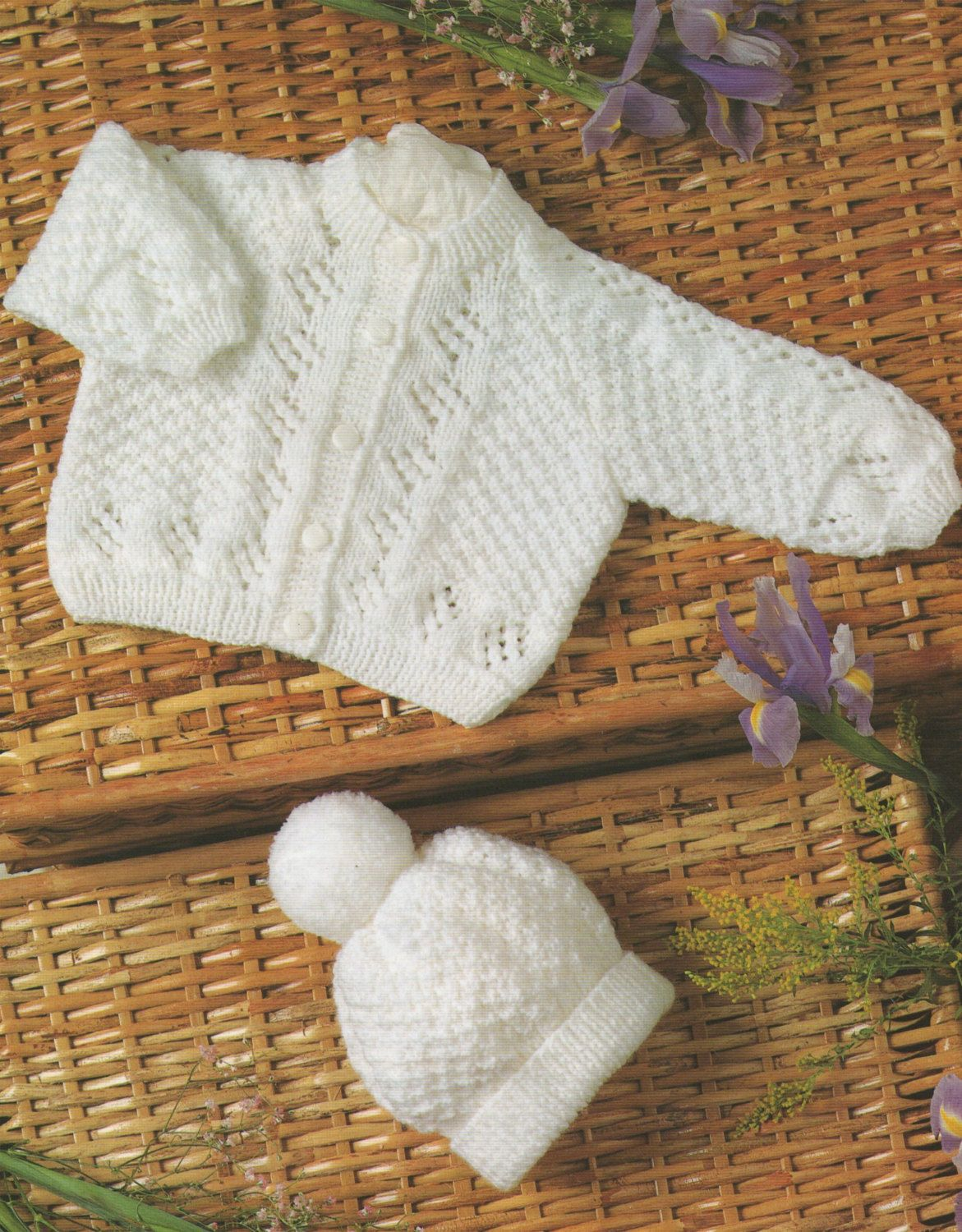 Premature baby cardigan and hat pdf knitting pattern babies 12 premature baby cardigan and hat pdf knitting pattern babies 12 14 16 18 and 20 inch chest newborn baby boy or girl bankloansurffo Choice Image