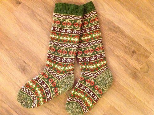 Ravelry: 1920s Socks pattern by Ann Feitelson | Жаккардовые носки ...
