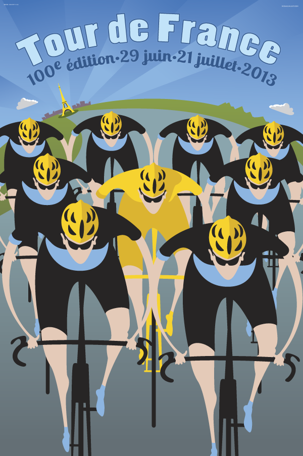 BicycleGifts.com - 100th Tour de France Riders Poster, $34.00 (http://www.bicyclegifts.com/100th-tour-de-france-riders-poster/)
