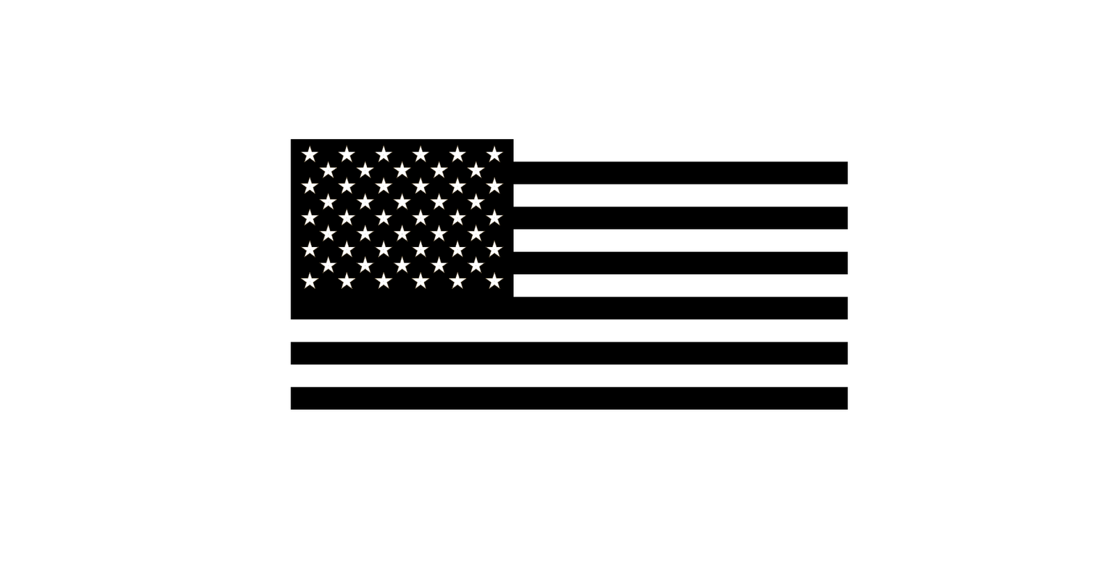 Black And White American Flag Clipart Us Flag Patch White Border American Flag Clip Art Black N White Images Clipart Black And White
