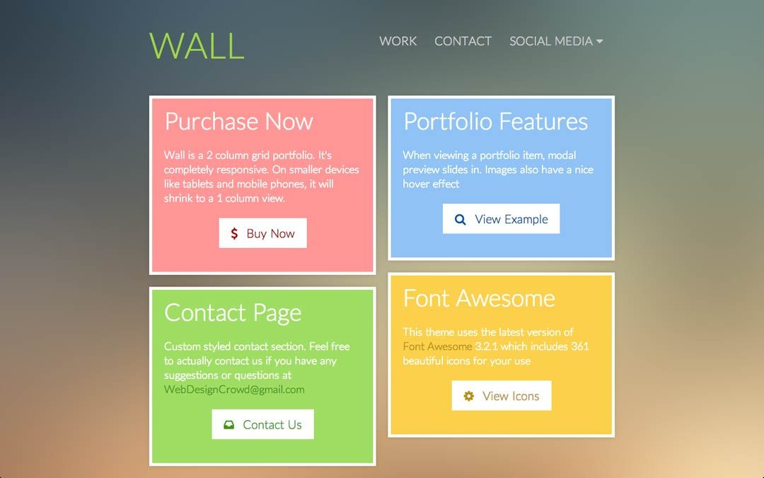 simple one page website