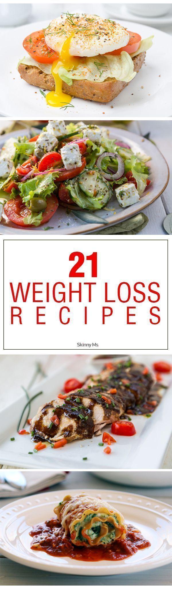 21 Weight Loss Recipes!  #weightlossrecipes #menuplanning