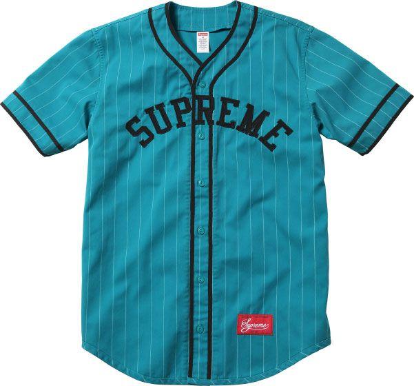 c1a011c377d47 Teal Supreme baseball jersey Casacas De Beisbol