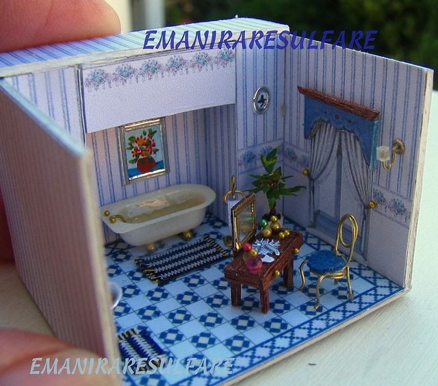 bagno 2 by emaniraresulfare. Charming blue bathroom.