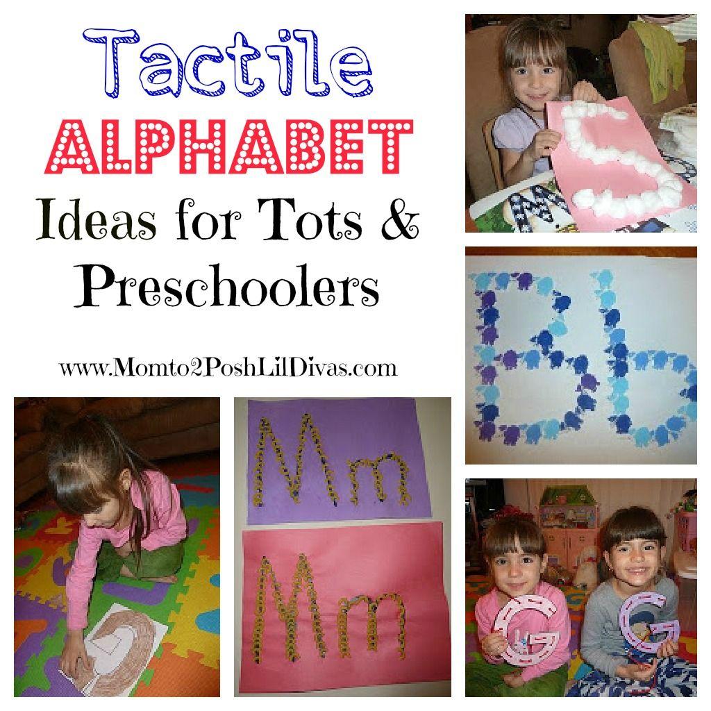 Preschool Learning Tactile Alphabet Ideas