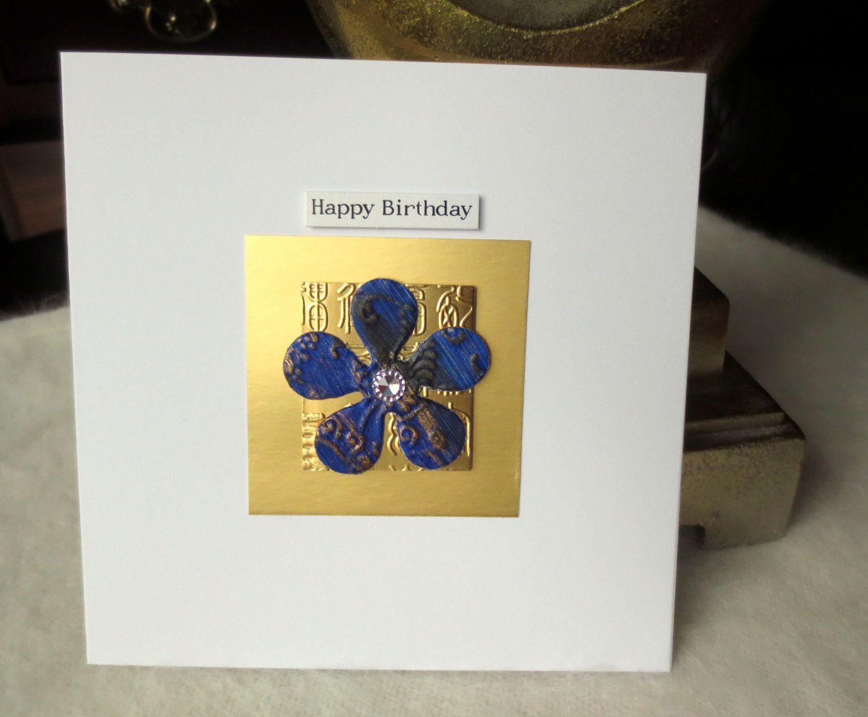 Handmade birthday card flower birthday card birthday card for her