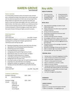 Retail Resume Template Alluring Retail Cv Template Sales Environment Sales Assistant Cv Shop Design Ideas