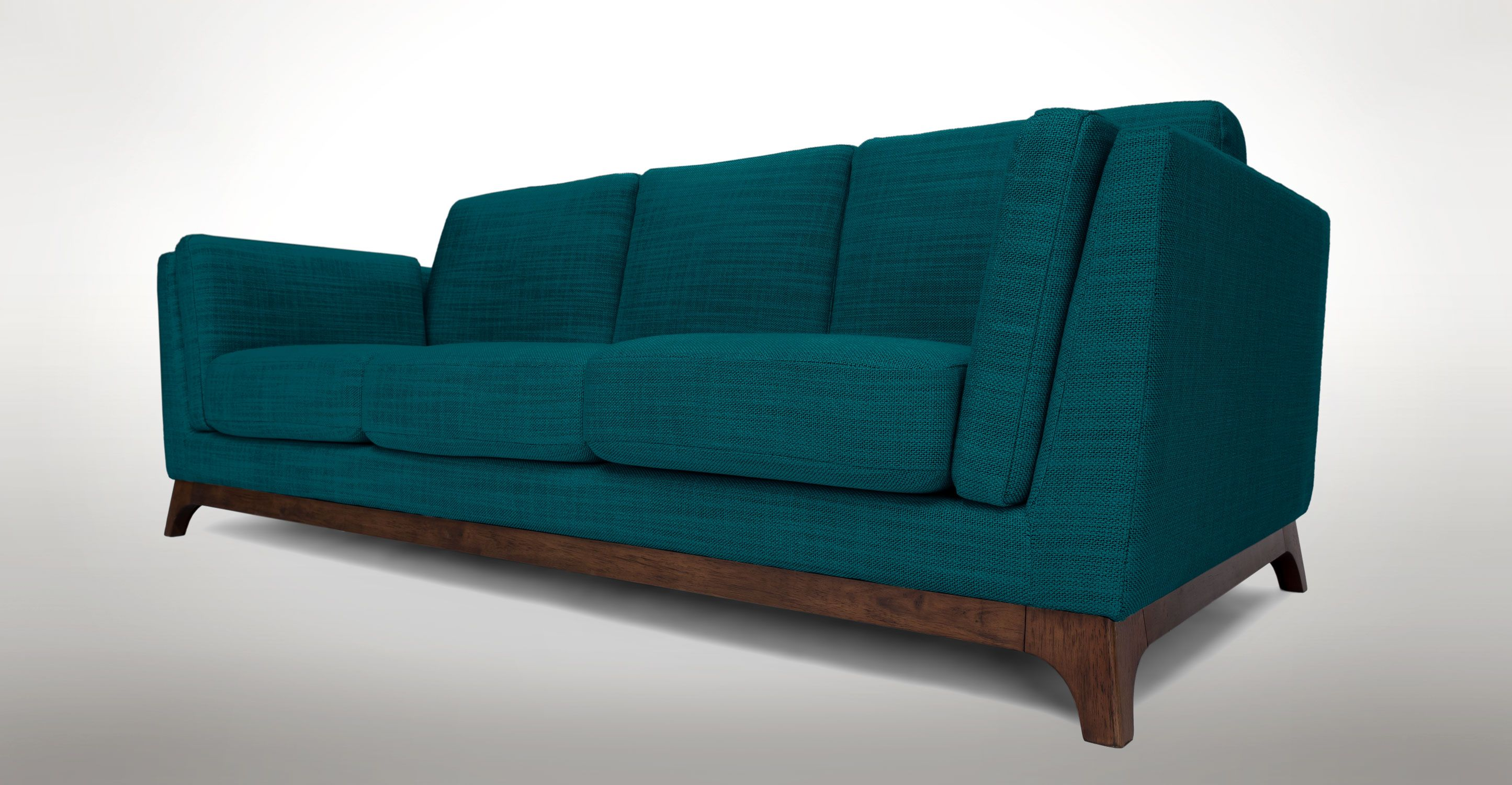 Green Blue Sofa 3 Seater Solid Wood Legs Article Ceni Modern