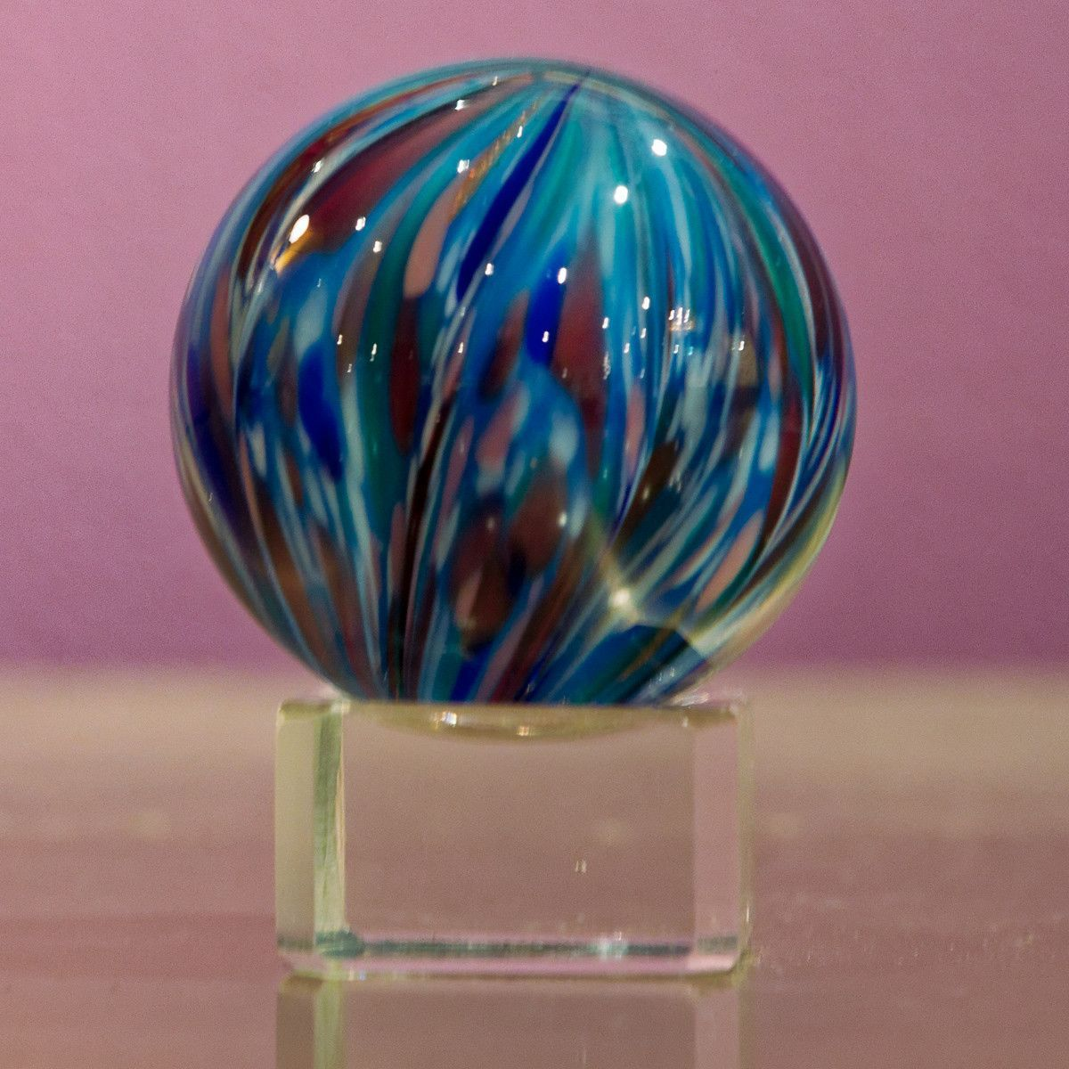 Pomegranate Blue Marble - Teign Valley Glass