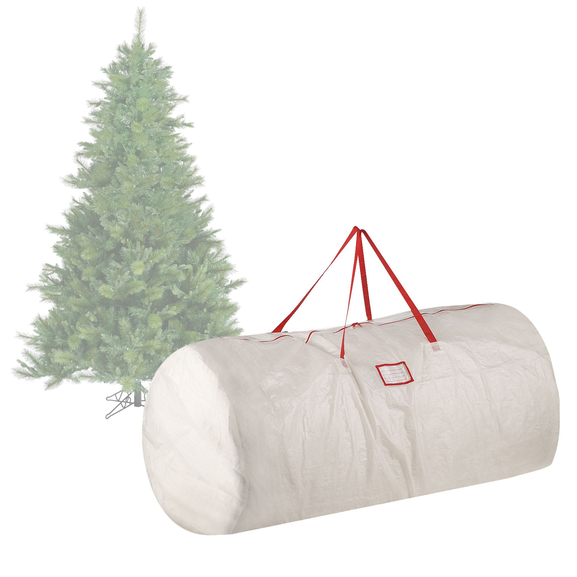 International Elf Stor Premium White Holiday Christmas Tree Storage Bag Large For 9 Foot Tre Christmas Tree Storage Bag Christmas Tree Storage