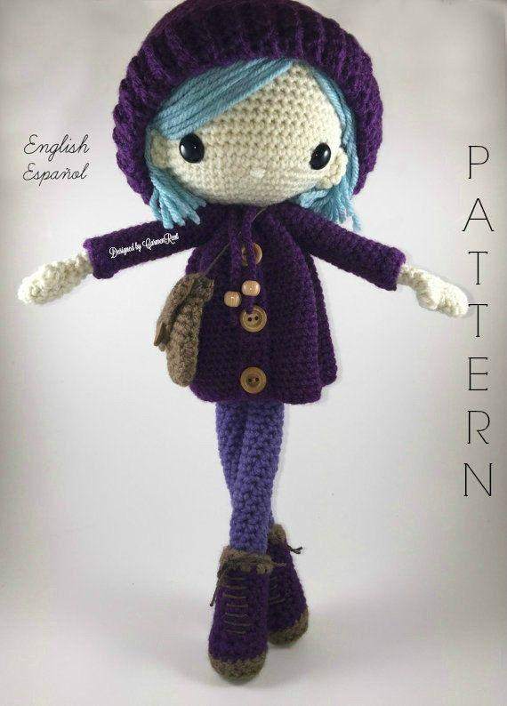 Emilia - Amigurumi Doll Crochet Pattern PDF | Muñeca amigurumi ...