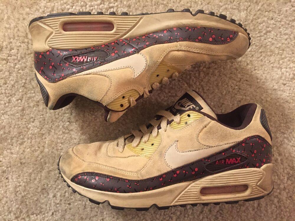 088641c8299d6 Nike Air Max 90 2006 Cherry Tan Dark Cinder Size 8.5 314455-221 RARE ...