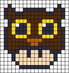Owl Mushroom Perler Bead Pattern Perler Beads Pixel Beads