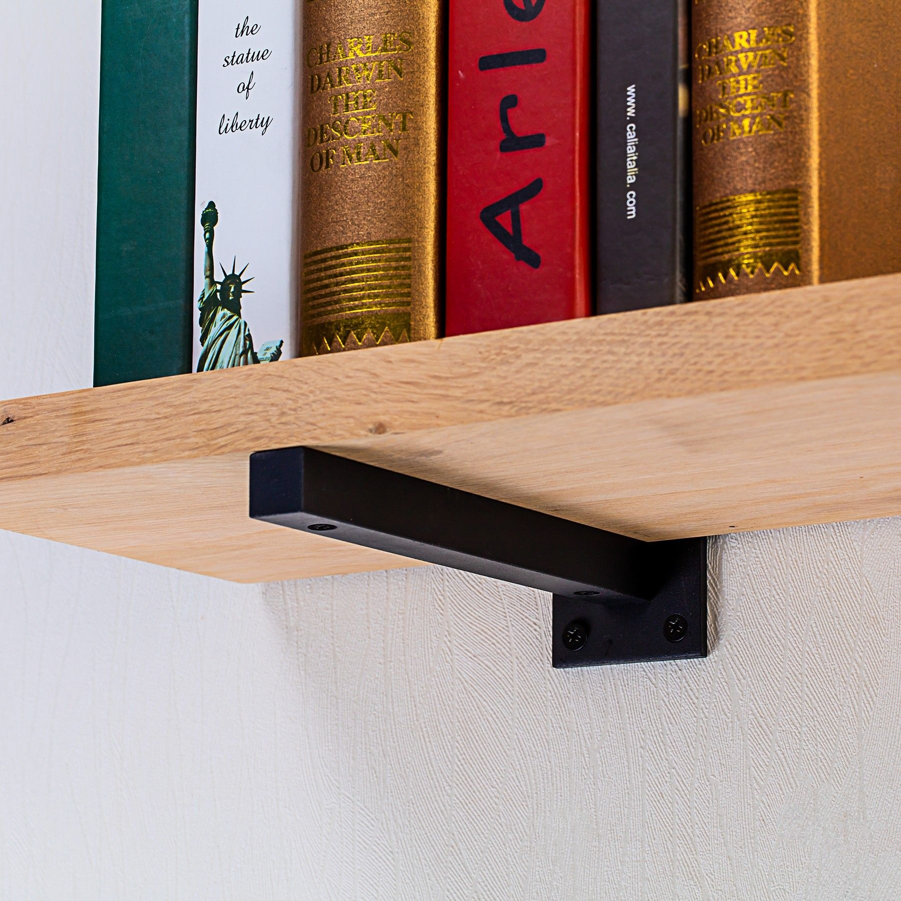 Alcott Shelf Bracket Set Matte Black Floating Shelf Brackets
