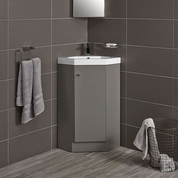 Alpine Duo 420 Basin And Corner Vanity Unit Gloss Grey Bathstore Corner Vanity Unit Corner Vanity Vanity Units