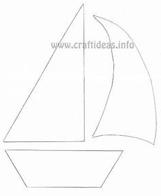 Sailboat Sails Pattern For Paper Boat Wrap
