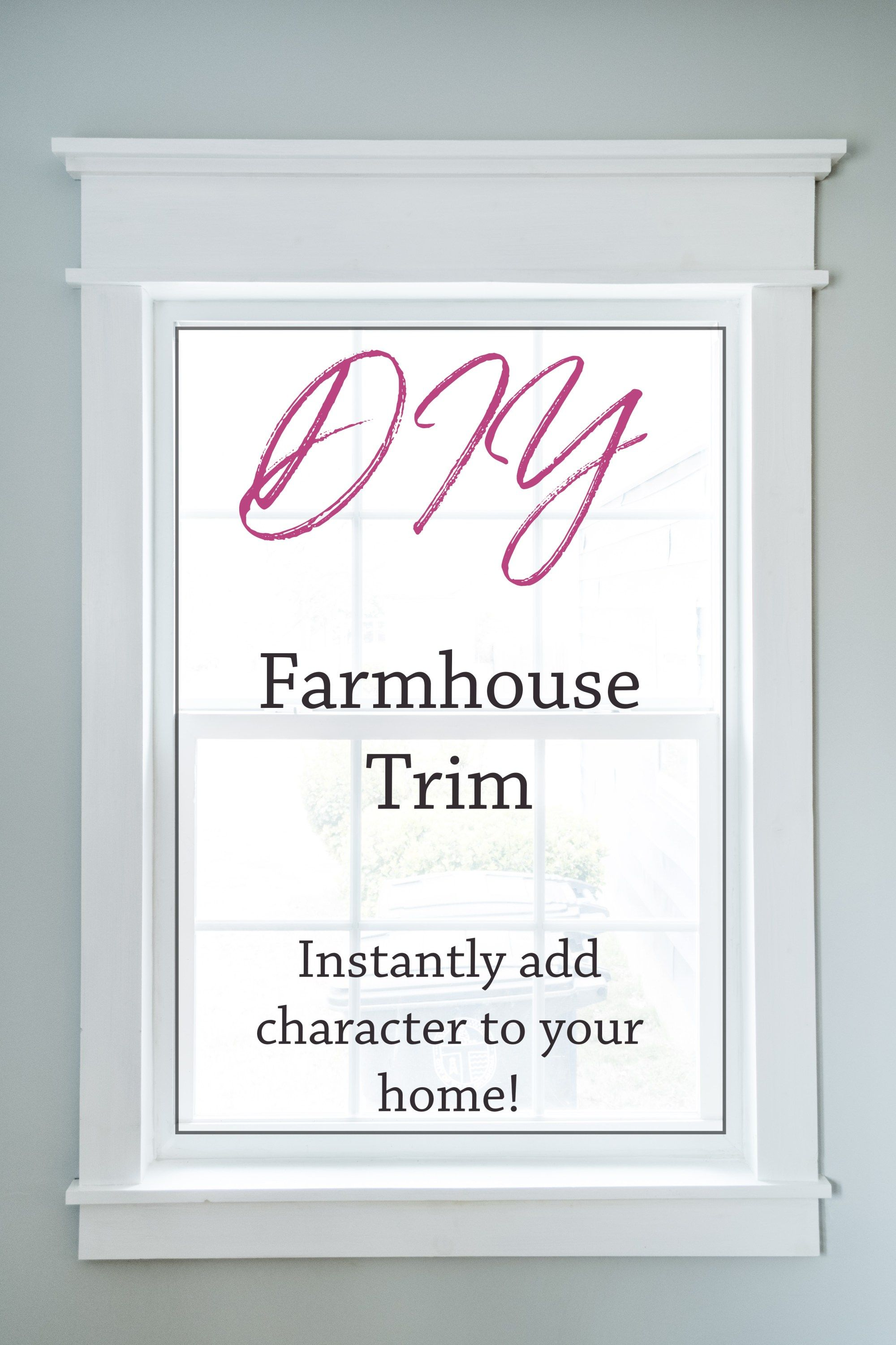 DIY Farmhouse Trim easy way to add character (With