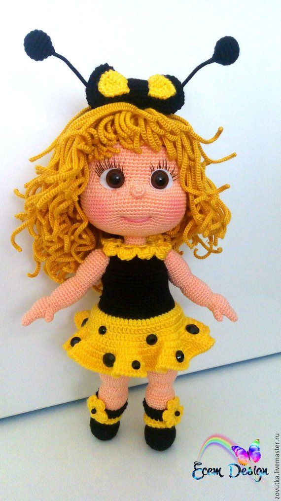 JuJu Doll - Amigurumi Crochet Pattern PDF file by Elena Akkoca (Ecem Design)