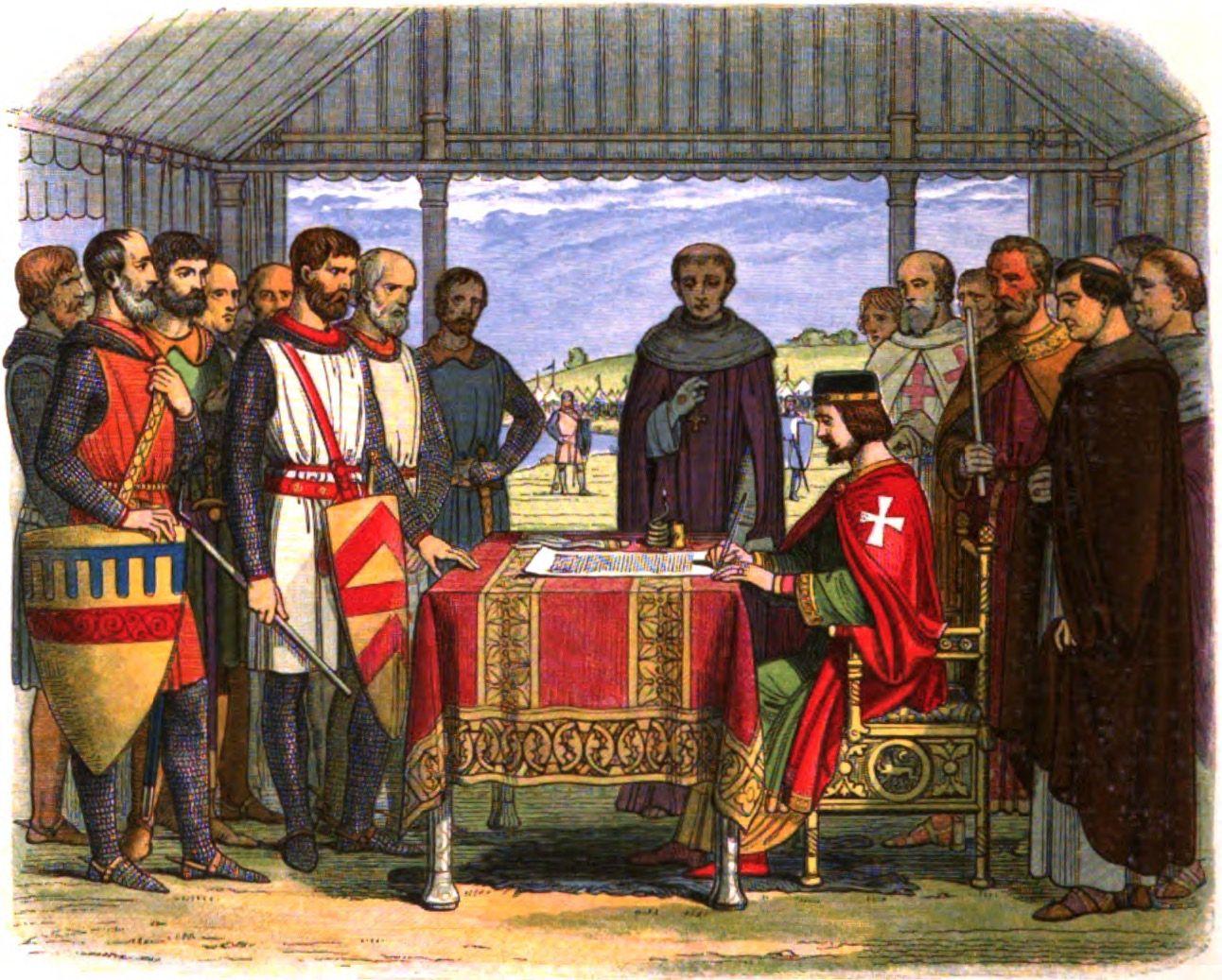 Signing of Magna Carta at Runnymede 1215 painting
