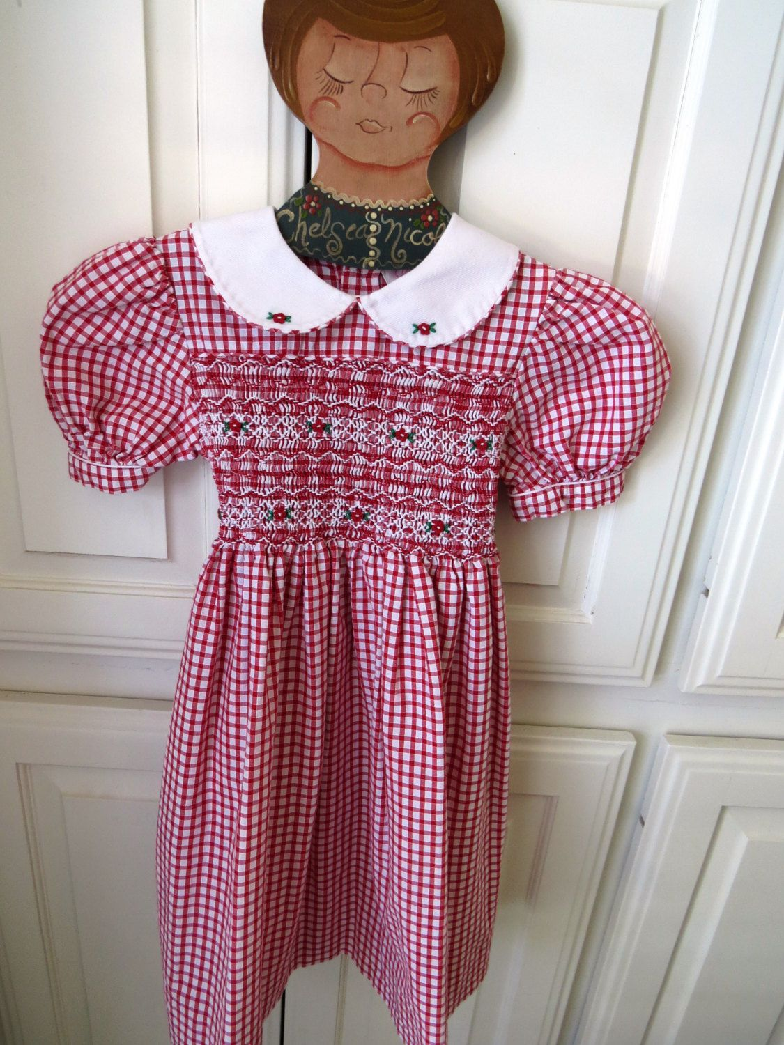 Vintage Little Girls Dress by Sophie Dess Creations Paris - Size 3 ...