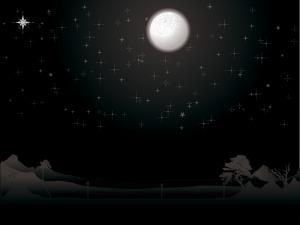 night moon and stars scene powerpoint template is a incredible