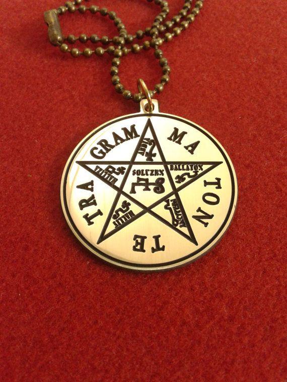 Pentagram of solomon necklace tetragrammaton pendant solomon pentagram of solomon necklace tetragrammaton pendant aloadofball Images