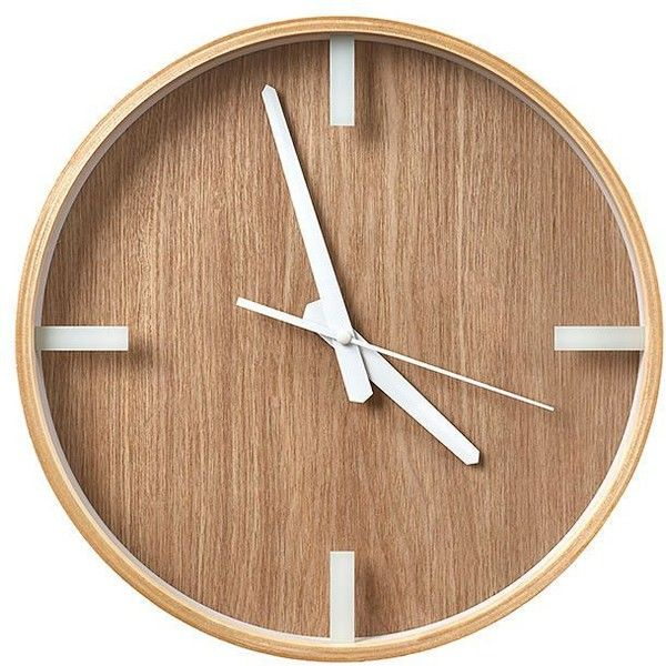 Scandi Timber Clock Target Australia 125 Cny Liked On Polyvore Featuring Home Home Decor Clocks Fillers Battery Powered Clock Wood Home Decor Battery