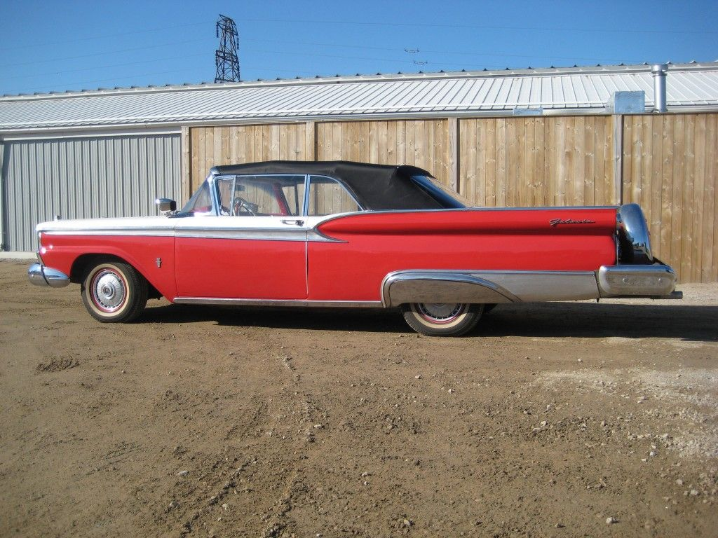 Top-up shot of \'59 Galaxie Sunliner Convertible to be sold \