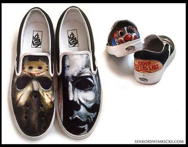 michael myers slippers personalised mens custom name gift art horror halloween