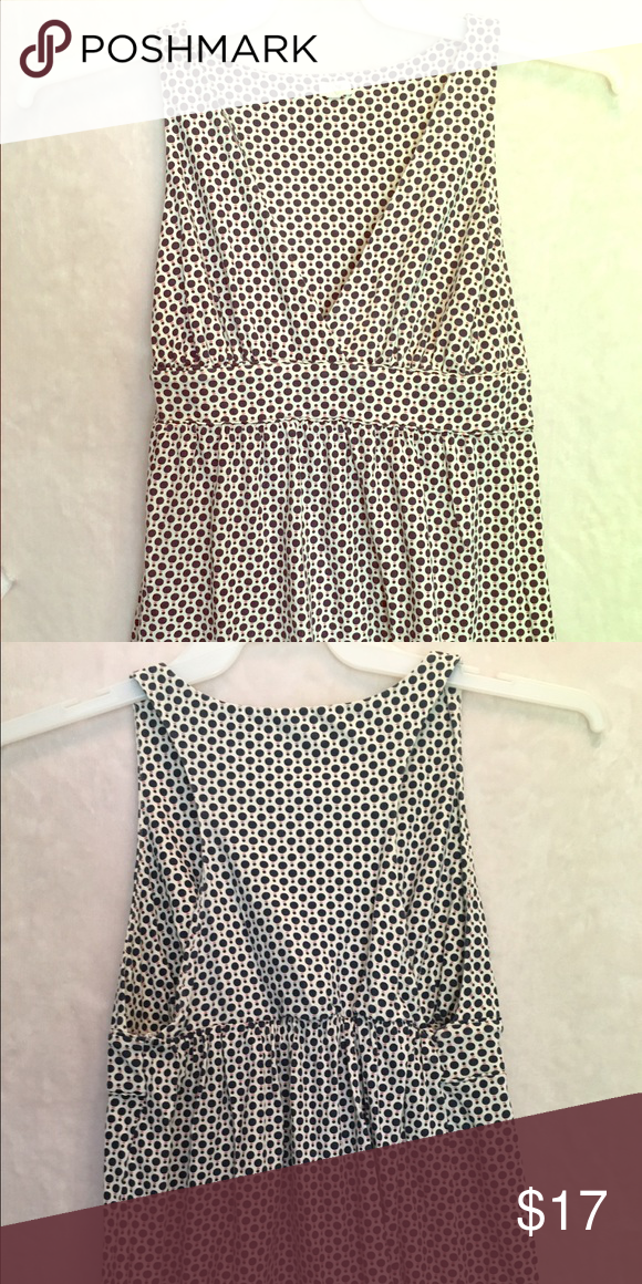 01b937e9b9 J Crew- dressy polka dotted top Top is off white back ground with black polka  dots. 100% cotton J Crew Tops Tank Tops