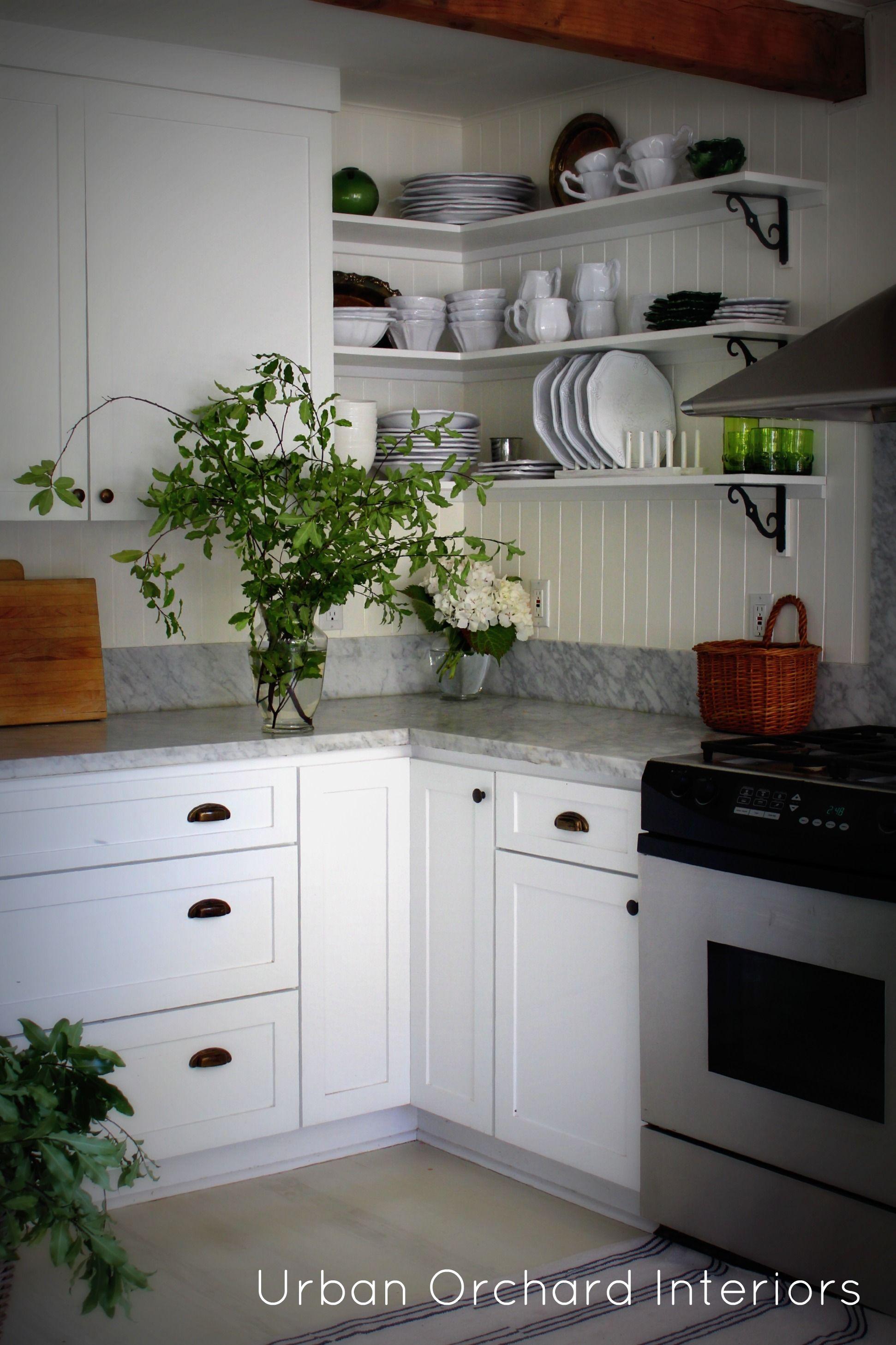 Open shelvingcolor inspiration brackets with white shelves
