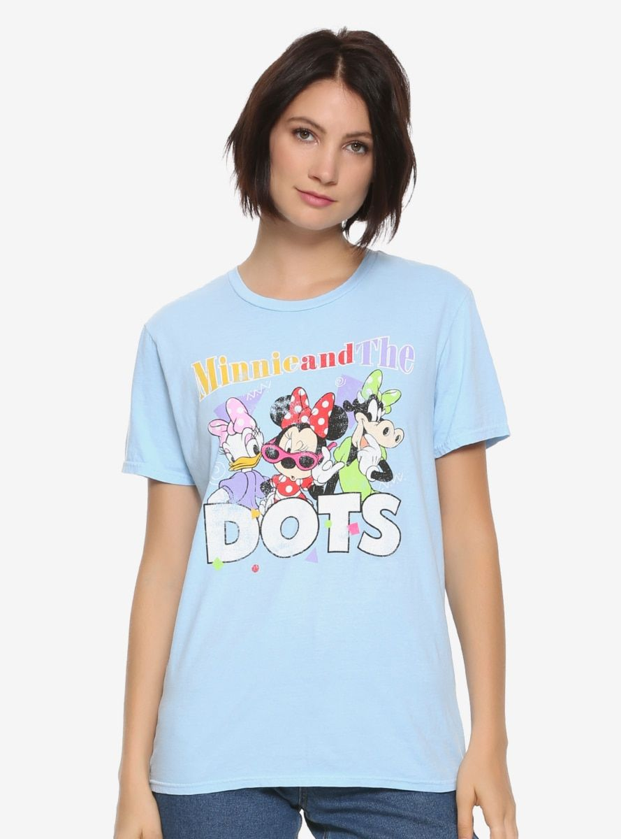 54ef4a38ce Disney Minnie Mouse Minnie & The Dots Womens T-Shirt - BoxLunch ...