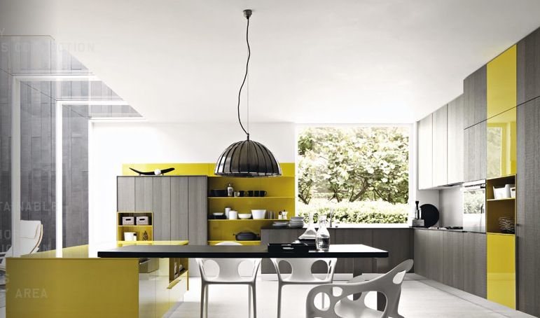 Fabulous Kitchen Design With Yellow Color Visit Roohome