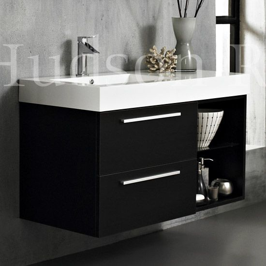 Hudson Reed Console Basin Cabinet Wenge Finish W1000 X D480mm Rf034 At Victorian Plumbing Uk Wall Mounted Vanity Console Furniture Bathroom Cabinets Diy