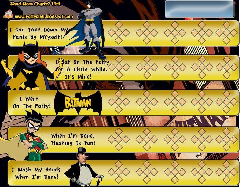 My Potty Plan Free Batman Potty Training Chart Twinspirations