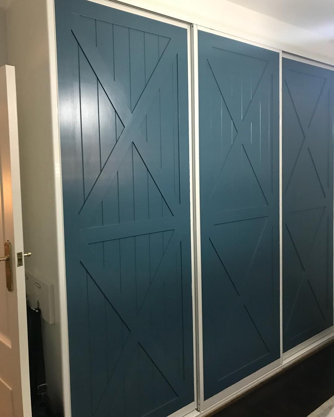 Willow Wood On Instagram We Finished These Wardrobes Off Today The Colour Is Taubmans Blue Demon And We Re Used The Exi Willow Wood Door Frame Blue Demon