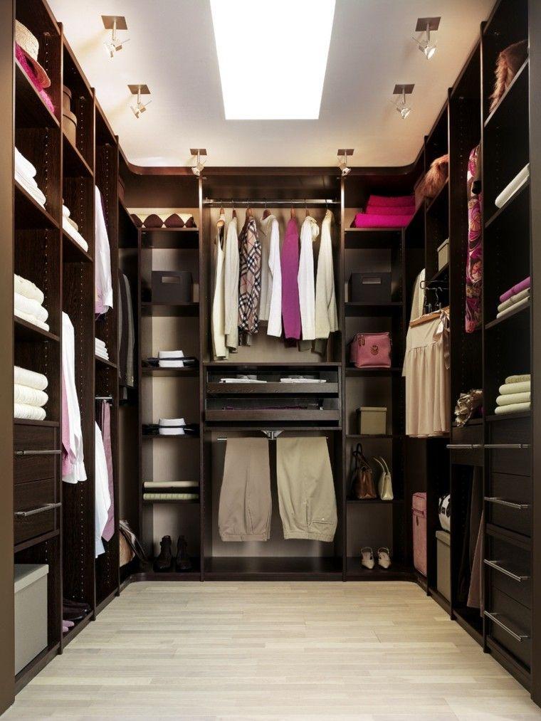 vestidor de madera de color marrón oscuro vestidor3 Pinterest