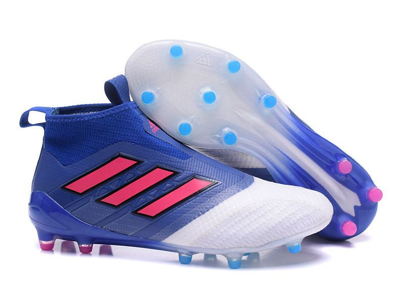 Adidas ACE 17+ Purecontrol Firm Ground Blue & White Soccer Cleats
