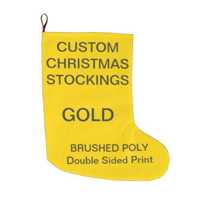 Custom Customizable Large GOLD Christmas Stocking - christmas ...