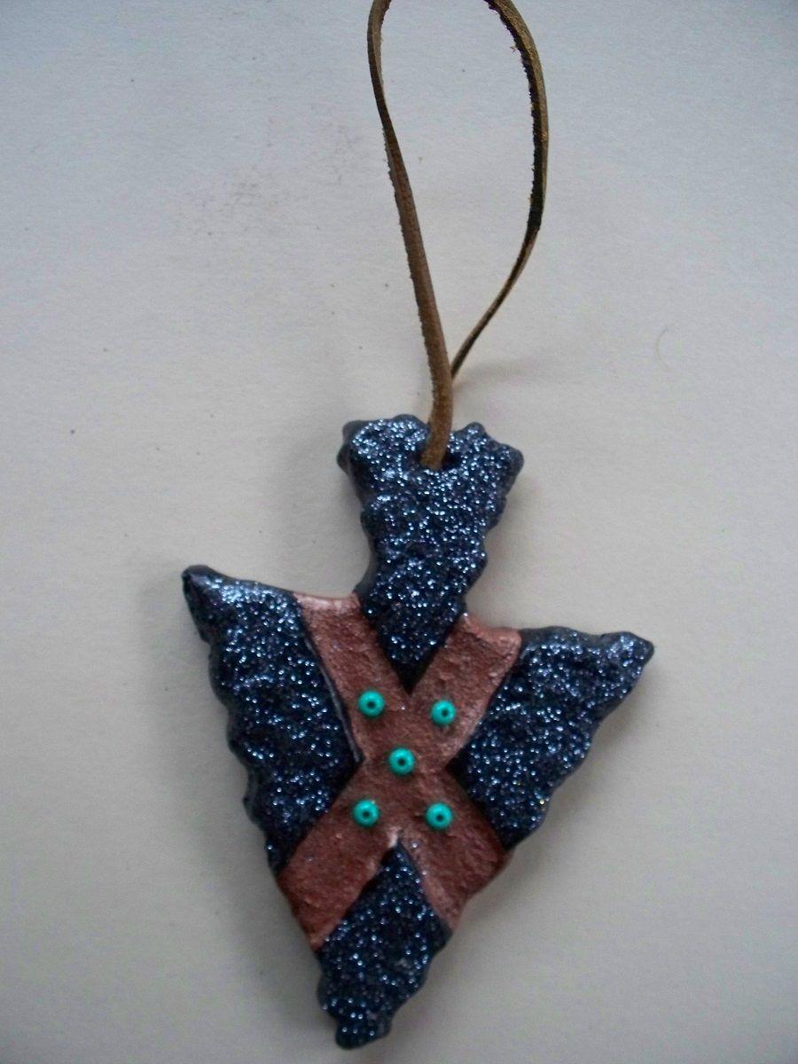 "Native American Christmas Tree Ornaments ""Arrowhead"". 3""X ..."