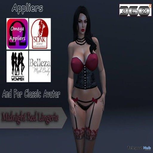 58aadb7f20 Midnight Red Lingerie With Appliers Group Gift by Diana Beauty   Fashion