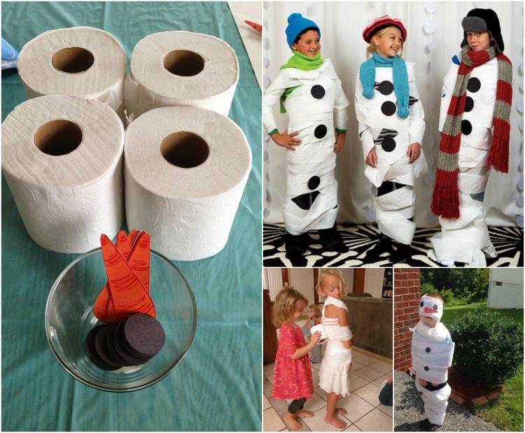 olaf schneemann aus klopapier halloween basteln pinterest geburt kindergeburtstag spiele. Black Bedroom Furniture Sets. Home Design Ideas