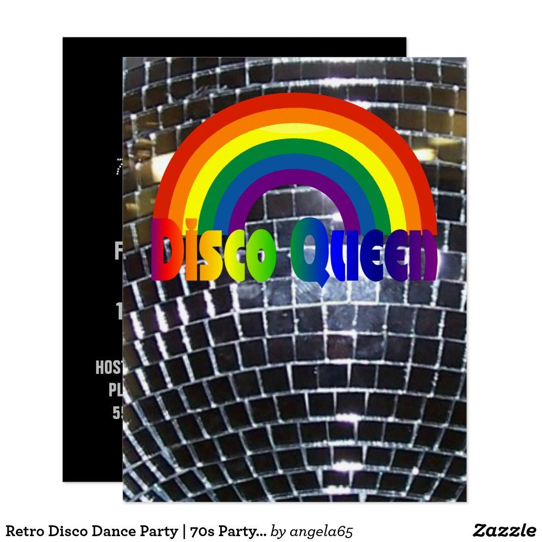 Retro Disco Dance Party | 70s Party Disco Ball Card | 70s party
